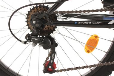 VTT Tout-Suspendu Enfant KS Cycling Zodiac 24'' Shimano 6V Bleu Noir