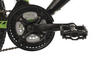 VTT Tout-Suspendu Enfant KS Cycling Zodiac 24'' Shimano Tourney 6V Vert Noir