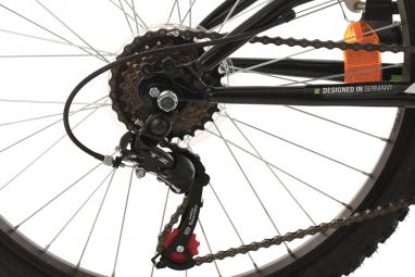 VTT Tout-Suspendu Enfant KS Cycling Zodiac 24'' Shimano Tourney 6V Blanc Vert