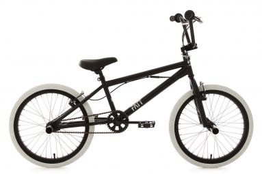 BMX Freestyle KSCycling Fatt 20'' Noir Blanc