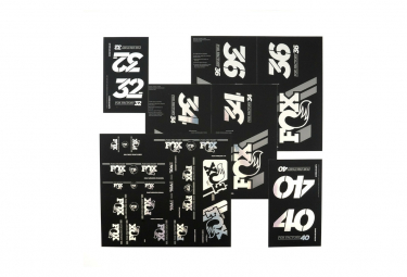 Kit Stickers Fox Racing Shox Heritage Fourche et Amortisseur Chrome