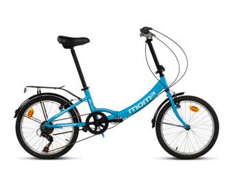Vélo Pliant Moma First Class II 20'' Shimano 6V Bleu