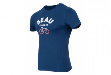 T-Shirt Marcel Pignon Homme Beau Velo Bleu