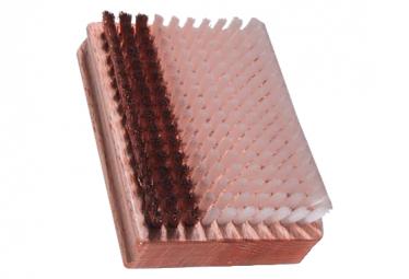 Image of Brosse mixte vola racing nylon bronze marron