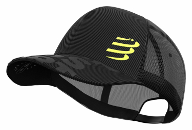 Casquette Compressport Trucker Cap Black Edition 2019 Noir Unisex