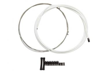 KIT Câble et Gaine Sram Slickwire Pro Route/VTT 4mm Blanc
