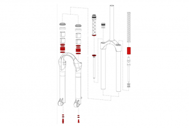 Service Kit Rockshox Argyle Solo Air (2007-2010) Coil (2010)