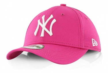 Image of Casquette child new era 940 mlb league ny pink 56 cm