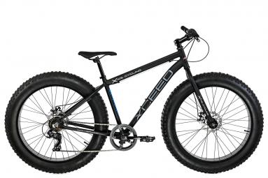 VTT Fatbike semi-rigide 26 aluminium Xceed noir 7 vitesses TC 46 cm KS Cycling
