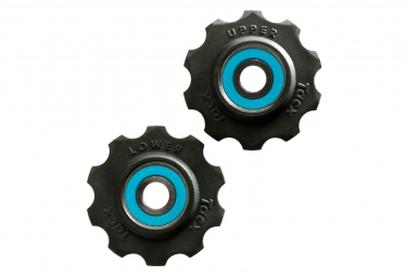 Pair of Rollers of Tacx C mocking D and Teflon Campagnolo 10 Teeth