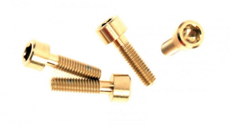 A2Z Titanium Bolts for Brake Lever 4 pcs ORO GOLD