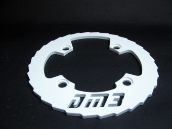 DM3 Bash Guard Alu 32-36 Dents Noir