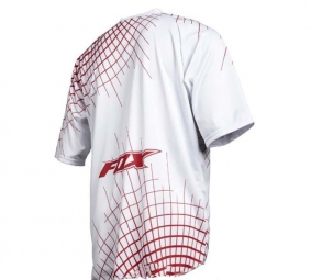 FOX PROMO 2011 Maillot Manches Courtes 360 Blanc/Rouge Taille L