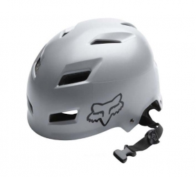 FOX HARD TRANSITION 2011 Silver Helmet Size M (55-58 cm)
