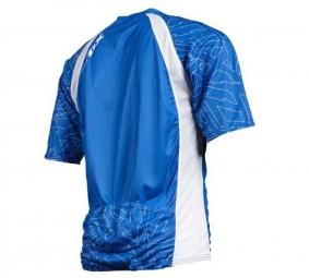 FOX PROMO 2011 Maillot Manches Courtes LIVEWIRE Bleu/Blanc Taille XL