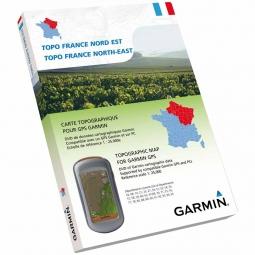Garmin TOPO France NORD-EST DVD + Carte Micro SD pré chargée