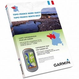 Garmin TOPO France NORD-OUEST DVD + Carte Micro SD pré chargée