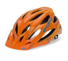 2011 Giro XAR Helmet Orange / Blue / Yellow Size L (59-63 cm)