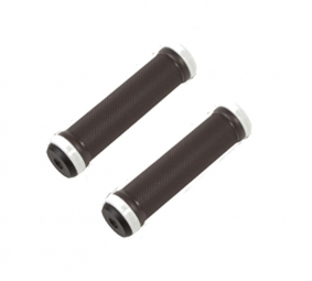 GUSSET Pair of Black Grips Lock on White