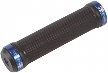 GUSSET Pair Lock On Grips Black Blue