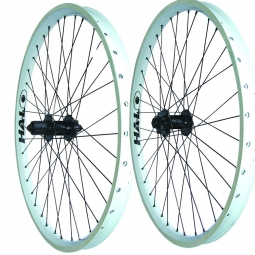 HALO  COMBAT II Paire de Roues Blanches Disque 6TR 26'' 9 mm