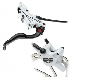 2012 Hayes Stroker Trail brakes Pair of White 180mm/180mm discs PM / IS