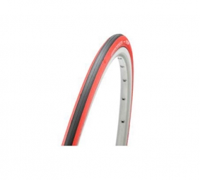 Hutchinson pneu route atom comp 700 x 23 noir rouge souple renforce