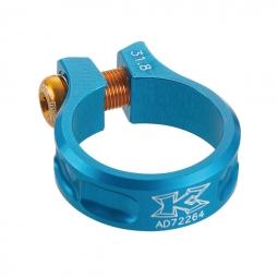 kcnc collier de selle ecrou sc11 bleu 31 8