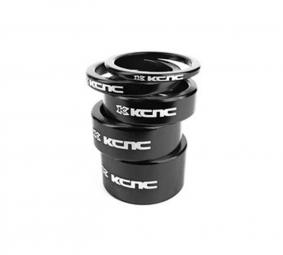 KCNC Kit Entretoises Direction Alu 1''1/8 Noir 3/5/10/14/20 mm