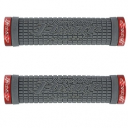 lizard skins paire de grips peaty graphite lock on rouge