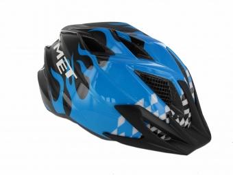 MET 2013 Helmet Flames CRACKERJACK Cyan Size M