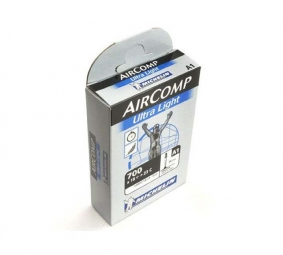 Michelin chambre a air route a1 aircomp ultralight 700x18 25 presta 60mm