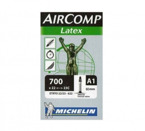 michelin chambre a air route a1 aircomp latex 700x22 23 valve presta 40mm
