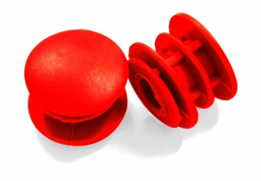 MSC Bar End Plugs - Red