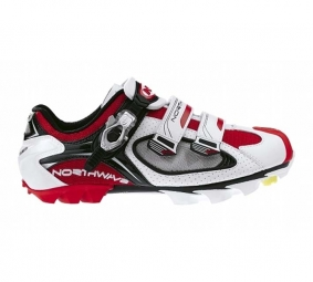 NORTHWAVE 2010 Chaussures Aerlite SBS Blanches Rouges et Noires 45