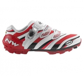 NORTHWAVE 2011 Chaussures Lizzard Pro SBS Blanche Rouge Noire 41