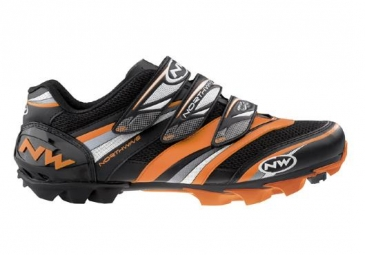 Northwave Chaussures Lizzard Pro 2010 Oranges/noires Taille 42