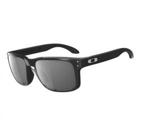Oakley Holbrook Sunglasses polished black / gray polarized Ref 9102-02