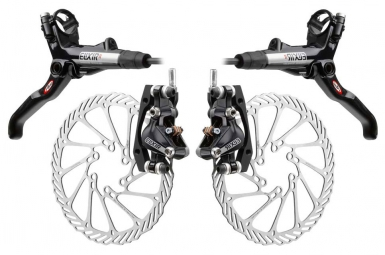 2011 Avid Elixir R brakes Pair of Black + mm discs 185mm/185 adapted IS / IS