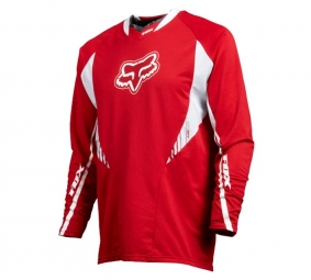 FOX 2011 Maillot Manches Longues TECH MTB Rouge Taille L