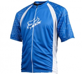 FOX PROMO 2011 Maillot Manches Courtes LIVEWIRE Bleu/Blanc Taille M