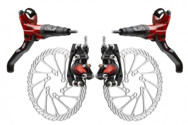 2011 Avid Elixir CR Carbon Brake Red Pair + discs 160mm/160mm PM / IS