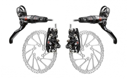 2012 AVID ELIXIR X0 Brake Pair Black / Red + Records G3 160/160 mm PM / IS