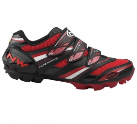 NORTHWAVE 2011 Chaussures Lizzard Pro Noir/Blanc/Rouge Taille 43