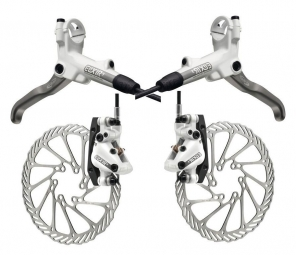 2011 Avid Elixir 5 White Pair Brake Discs + 203/203 mm PM / IS
