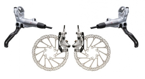 Avid Elixir R brakes Pair of Silver 160/160 mm Front + rear PM / IS