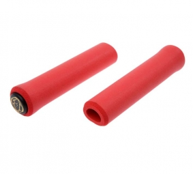 BUG DOUBLON ESI Paire de Grips CHUNKY Silicone Rouge 32mm