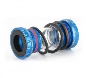 FIRST Boitier pour SHIMANO FSA RACE FACE roulements externes Bleu 68mm/73mm