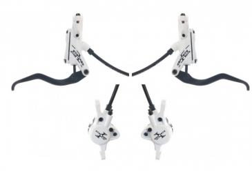 Hayes Stroker Ryde brakes Pair of White + discs 180mm/160mm PM / IS