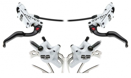 2012 HAYES STROKER TRAIL XC Pair Brake Disc 160/160mm White PM / IS